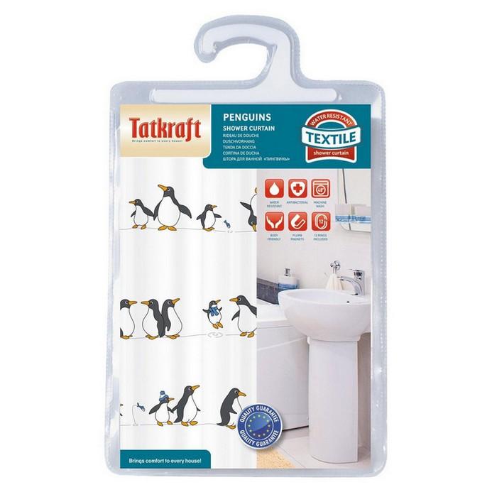 Штора для душа Tatkraft Penguins Textile