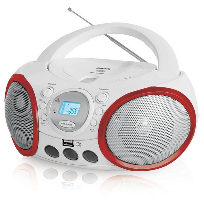 Аудиомагнитола BBK BX150U White/Red