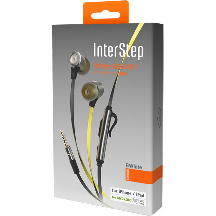 Гарнитура InterStep BWhite Yellow/Black