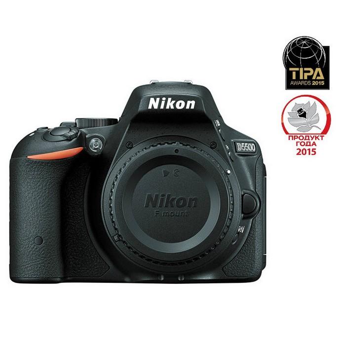Зеркальный фотоаппарат Nikon D5500 Body черный
