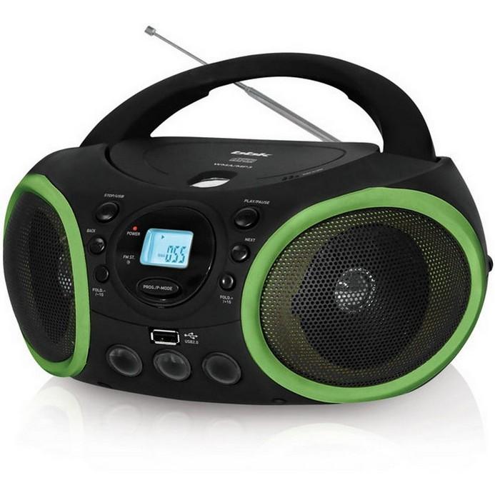 Аудиомагнитола BBK BX150U Black/Green