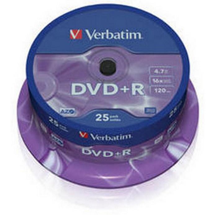 Оптический диск Verbatim 25 дисков 4,7Гб 16x Cake (43500)