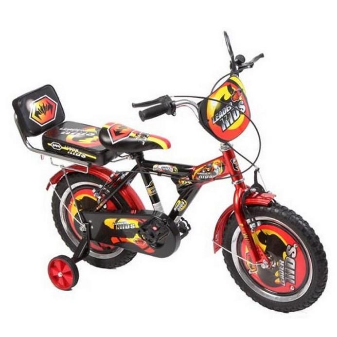 Двухколесный велосипед Leader Kids G14BA104 красно-черный