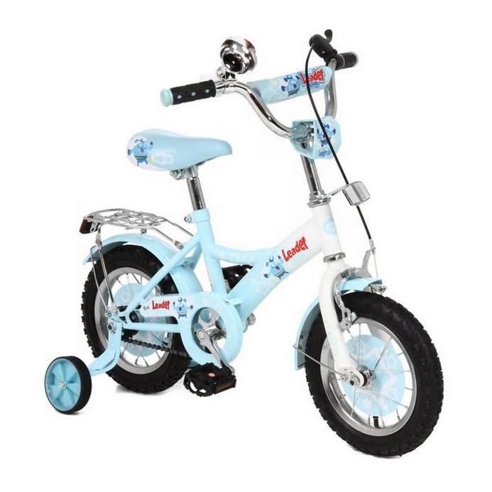Двухколесный велосипед Leader Kids G12BD130 бело-голубой