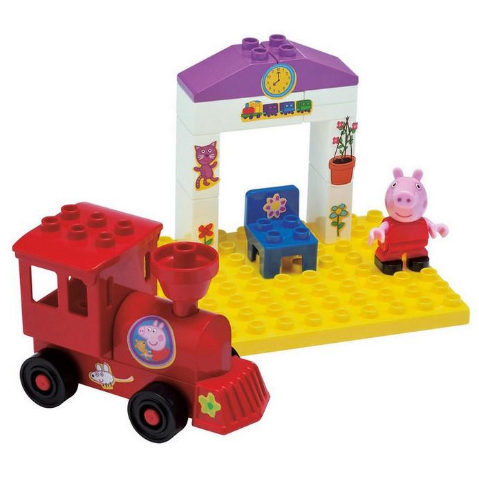 Конструктор BIG Peppa Pig поезд с остановкой