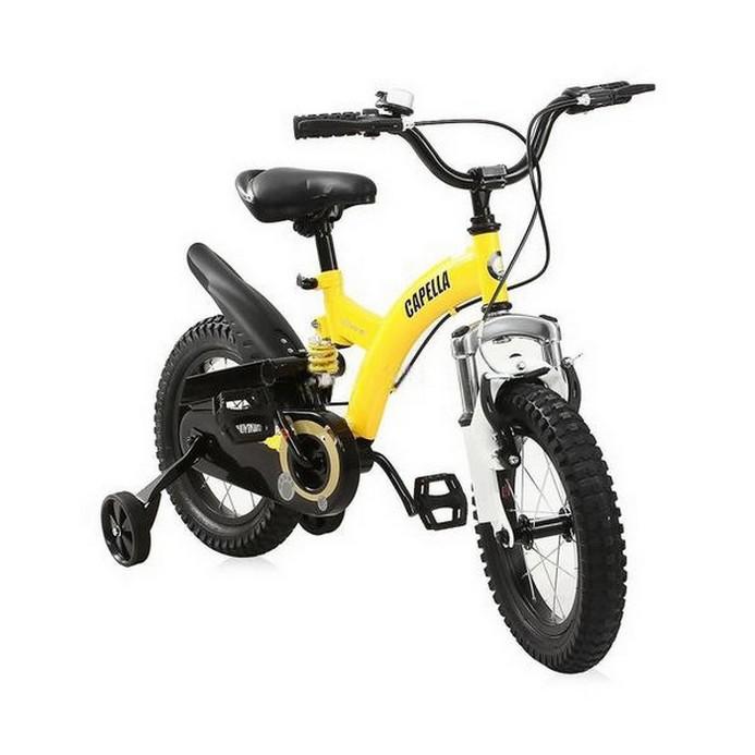 Двухколесный велосипед Capella Flying Bear B-12 желтый