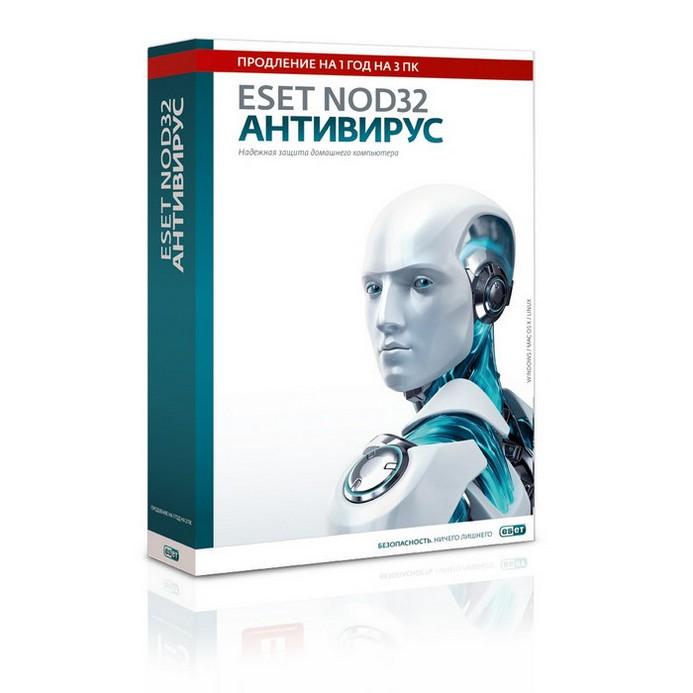 PC-игра Eset PCSB NOD32 Антивирус 1год 3ПК