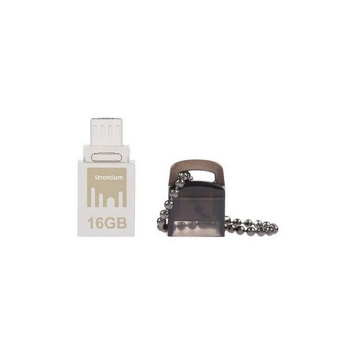 USB-флешка Strontium NITRO OTG 16Gb Silver USB 2.0/microUSB (SR16GSBOTG1)