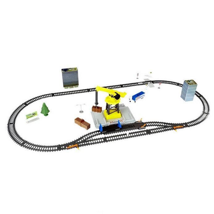Железная дорога Power Trains Набор с краном (48627)