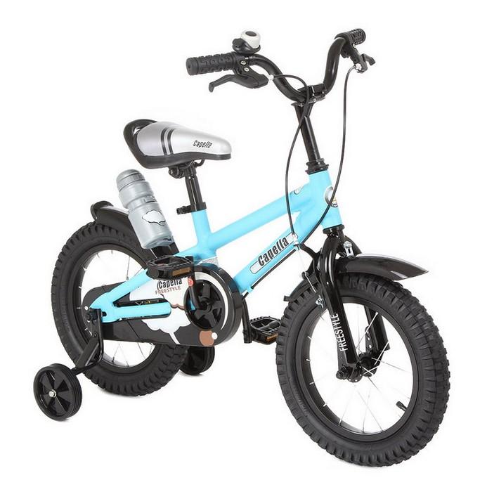 Двухколесный велосипед Capella S-14 голубой