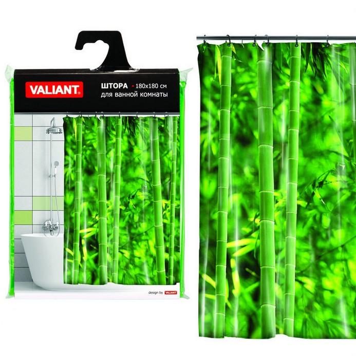 Штора для душа Valiant Бамбуковые джунгли 180x180см