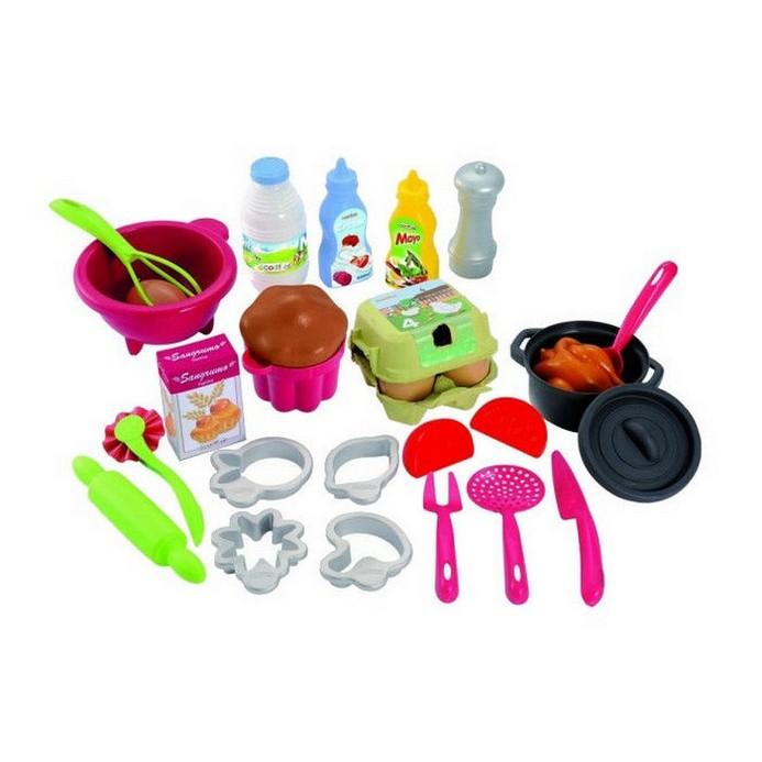 Игровой набор Ecoiffier Посудка с продуктами