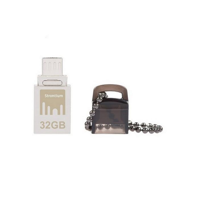USB-флешка Strontium NITRO OTG 32Gb Silver USB 2.0/microUSB (SR32GSBOTG1)
