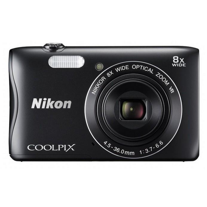Компактный фотоаппарат Nikon Coolpix S3700 BK EU