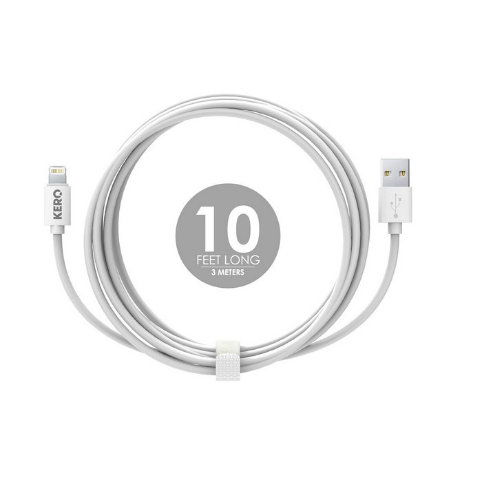 Кабель KERO LC-LW (USB-Lightning) White, 3м