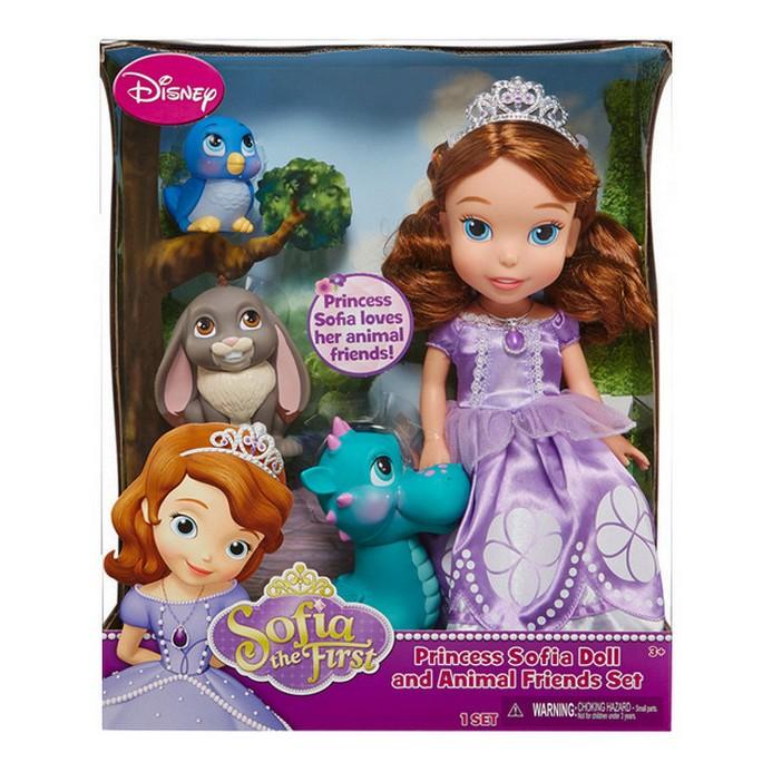 Игровой набор Disney Princess София с 3 питомцами 37см (931010)