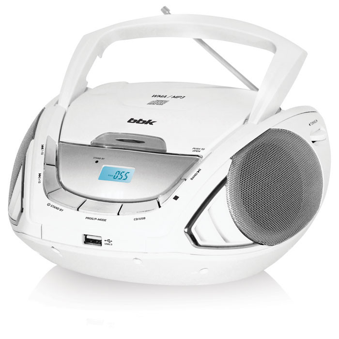 Аудиомагнитола BBK BX190U White