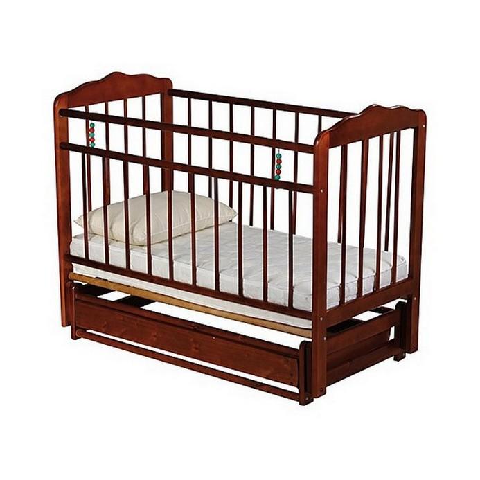 Кроватка Женечка 6 (вишня)
