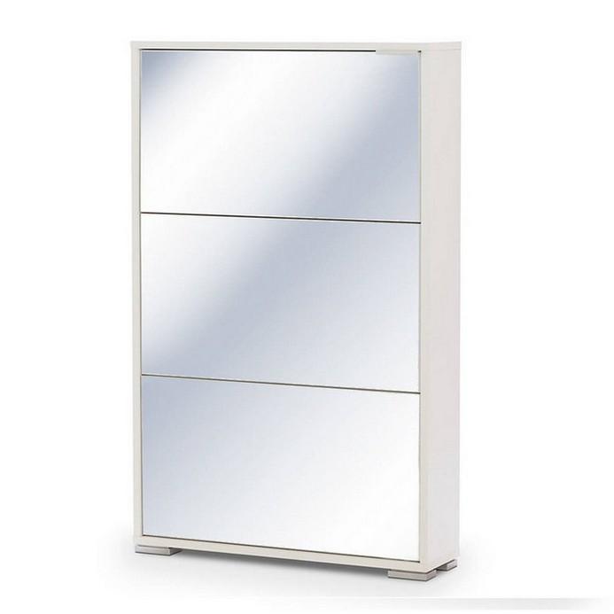 Обувница Vental VIVA 3S (зеркальная) белый