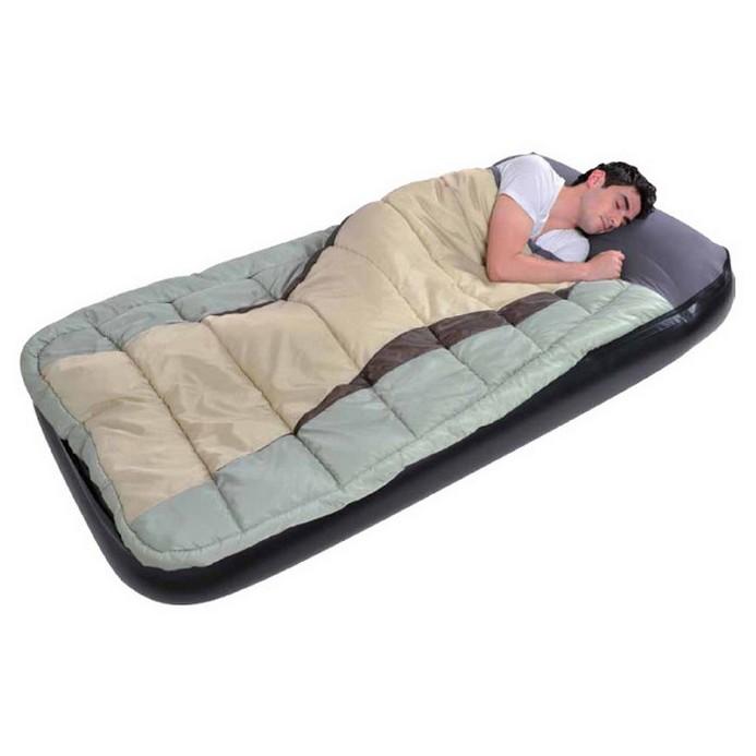 Кровать надувная Relax JL027008N (190x99x25 см) Green/Beige