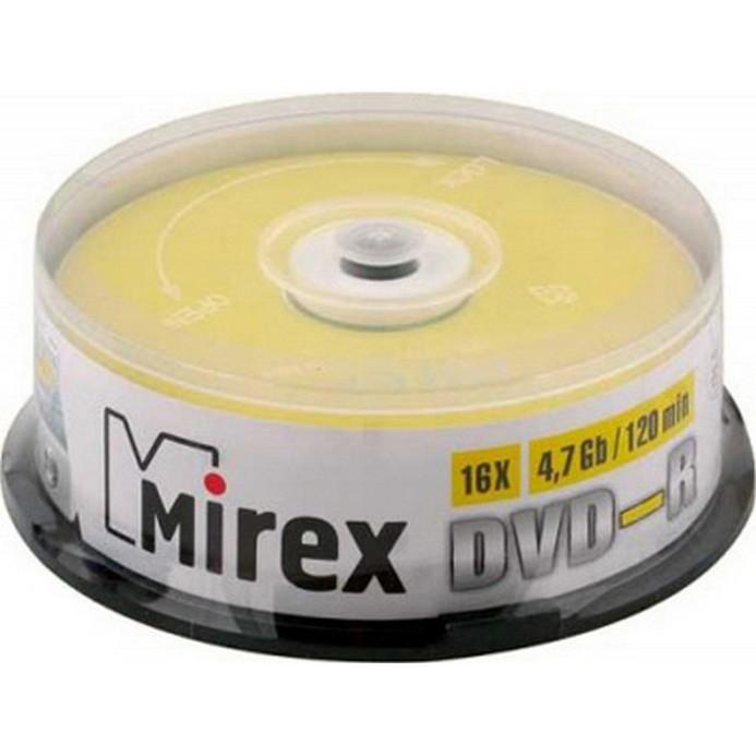 Оптический диск Mirex 25 дисков 4,7Гб 16x Cake