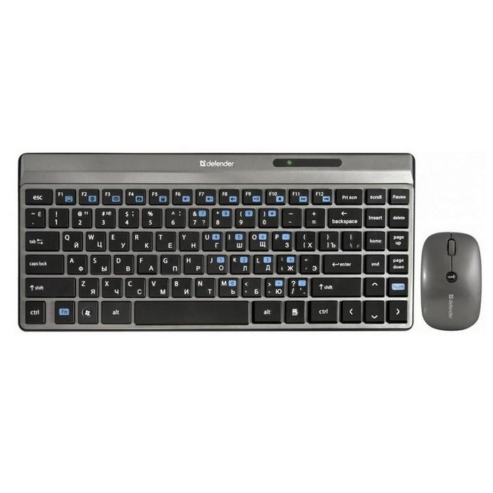 Комплект клавиатура+мышь Defender Sorbonne C-835 Nano Grey USB