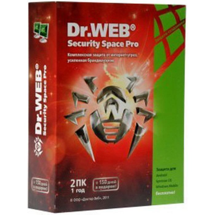 Антивирус Dr.Web Security Space Pro 2ПК/1год
