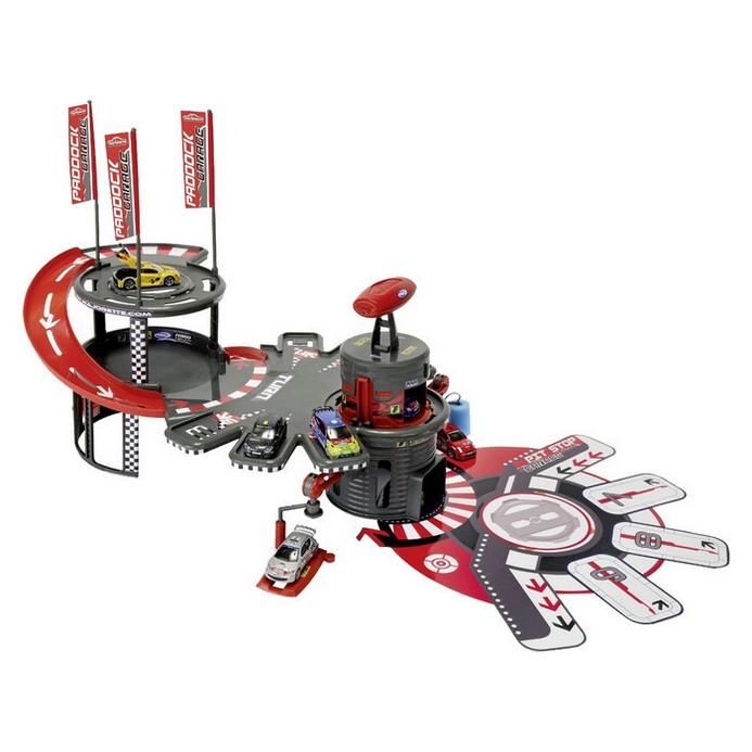 Игровой набор Majorette Парковка+автомойка+1 авто (2084660)