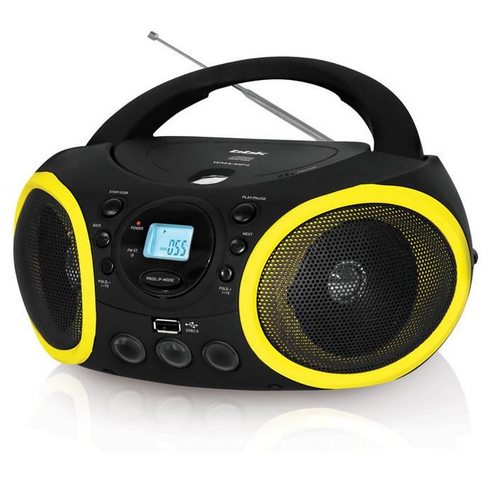 Аудиомагнитола BBK BX150U Black/Yellow