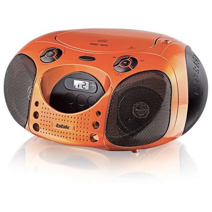 Аудиомагнитола BBK BX110U Orange/Black