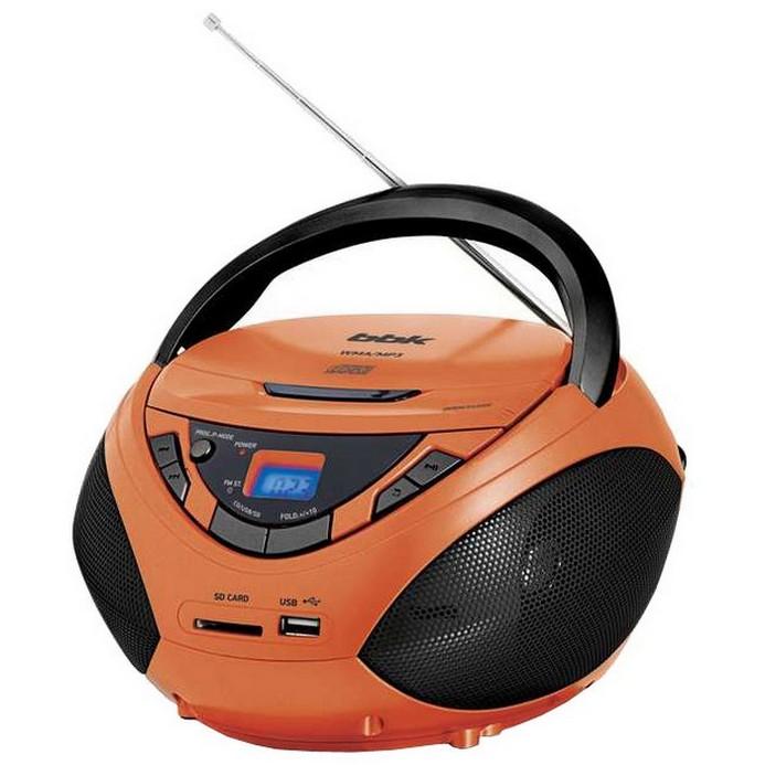 Аудиомагнитола BBK BX108U Orange-Black