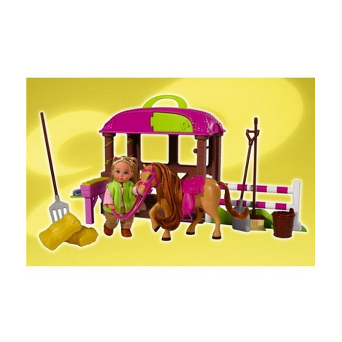 Игровой набор Simba Evi с лошадкой и аксессуары