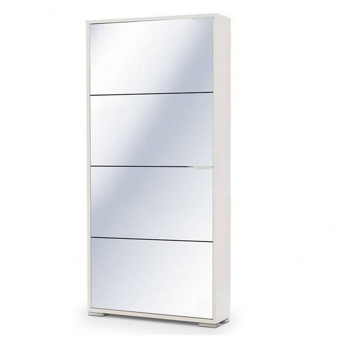 Обувница Vental VIVA 4S (зеркальная) белый