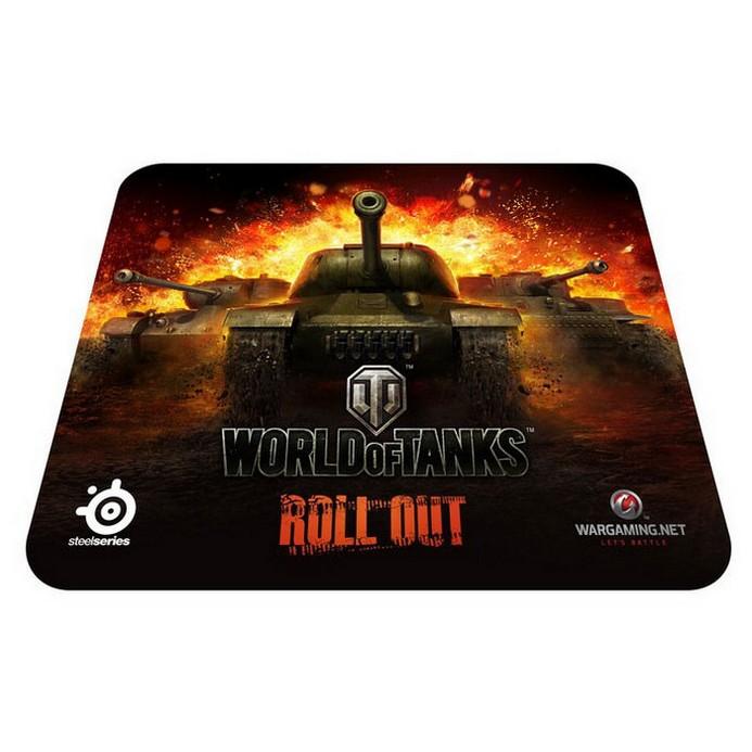 Коврик для мыши SteelSeries SS QcK World of Tanks edition Black (67269)