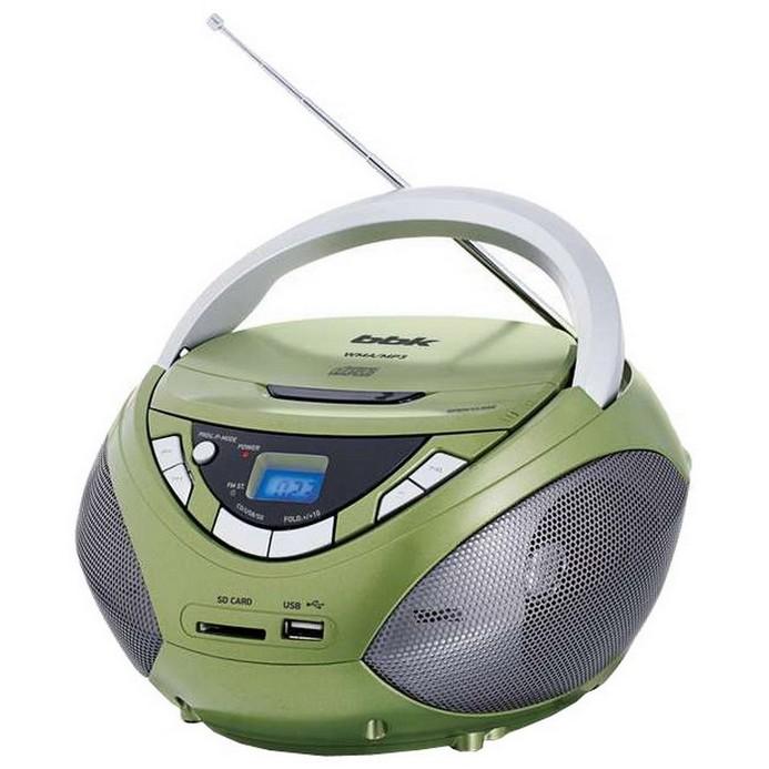 Аудиомагнитола BBK BX108U хаки