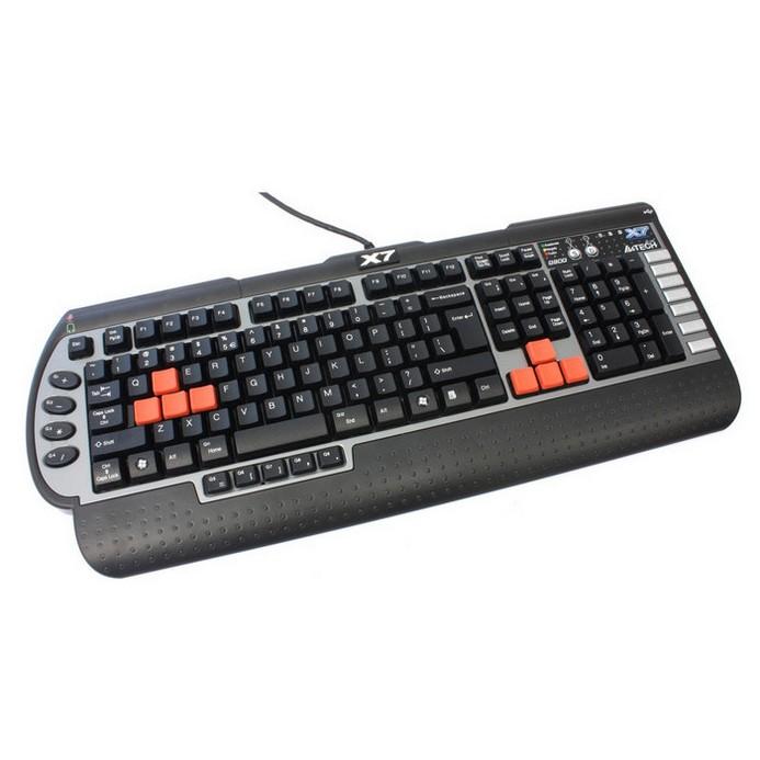 Клавиатура A4Tech X7-G800MU черный/серый