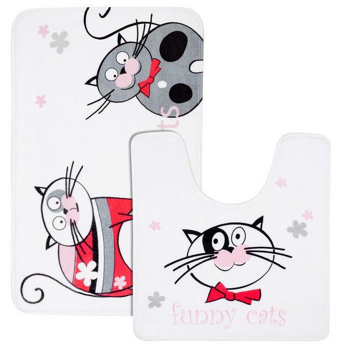 Коврик для ванной Tatkraft Funny Cats 2шт