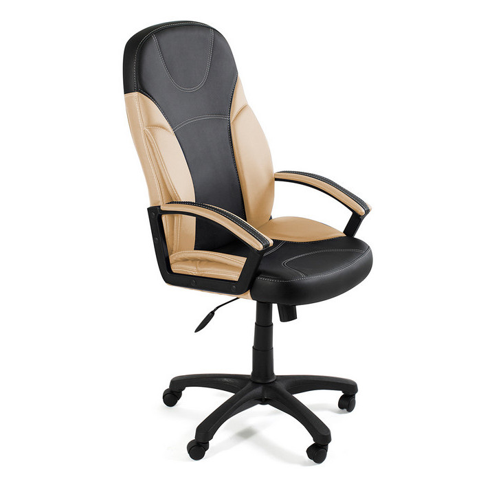 Кресло TetChair Twister черно-бежевое