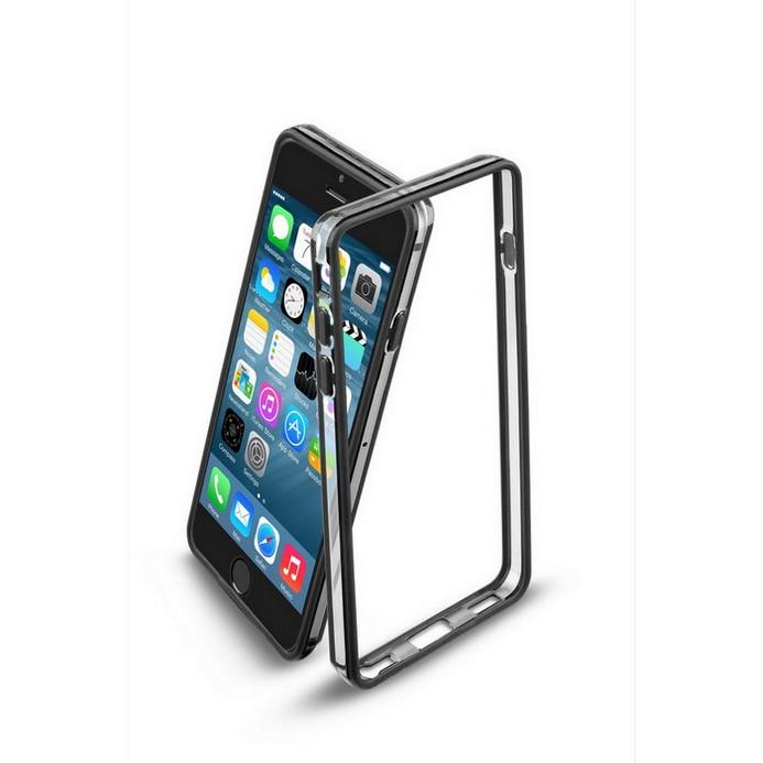Бампер Cellular Line для iPhone 6 BUMPERIPH647K (21826) Black + защитная пленка