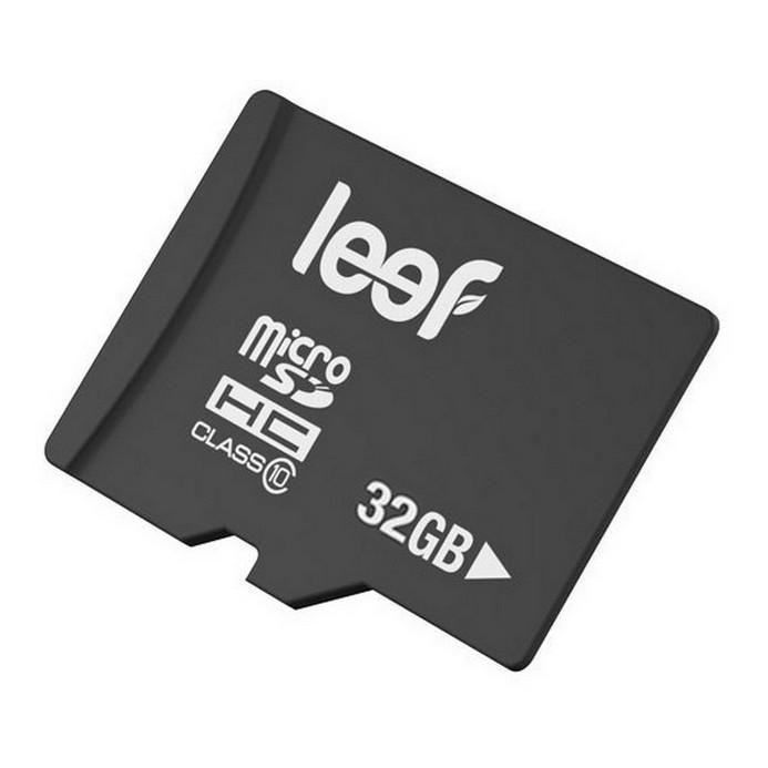 Карта памяти Leef microSD 32Gb Class10 (LMSA0KK032R5) + адаптер
