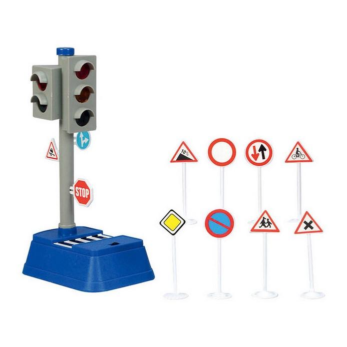 Игровой набор DICKIE Светофор+дорожные знаки (3313051)