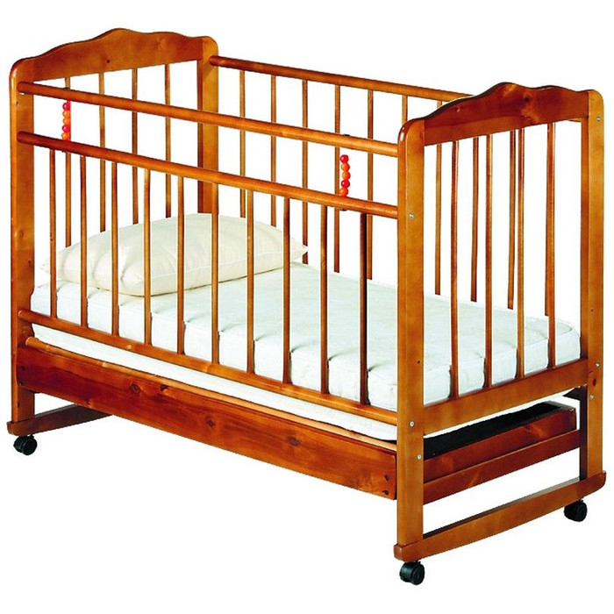 Кроватка Женечка 4 (вишня)