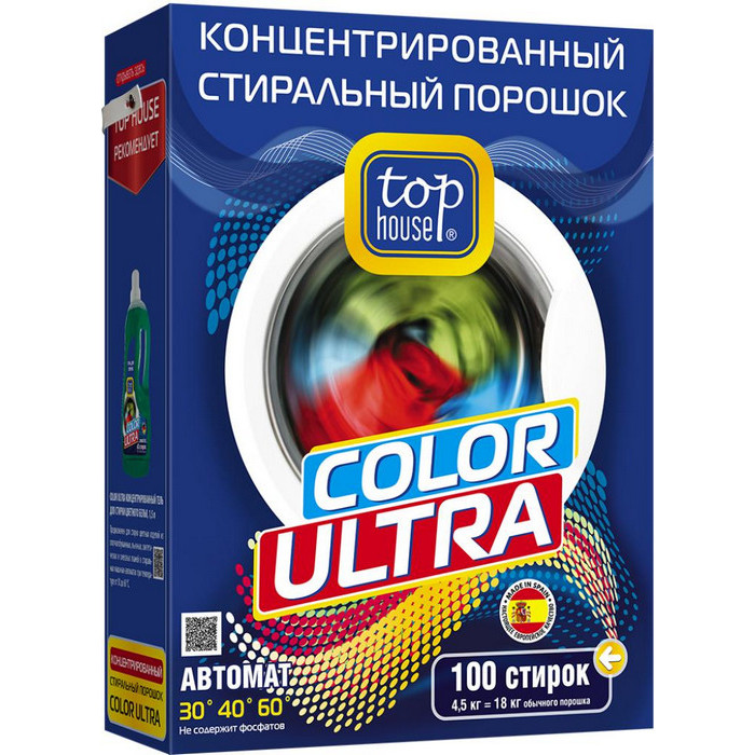 Стиральный порошок TOP HOUSE Color Ultra 4,5кг