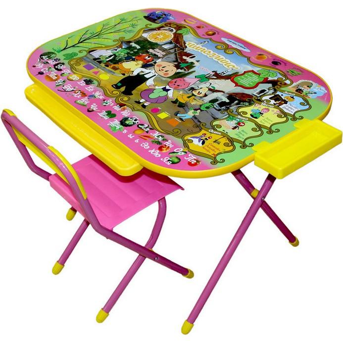 Набор мебели Дэми Всезнайка-Чиполлино роз.