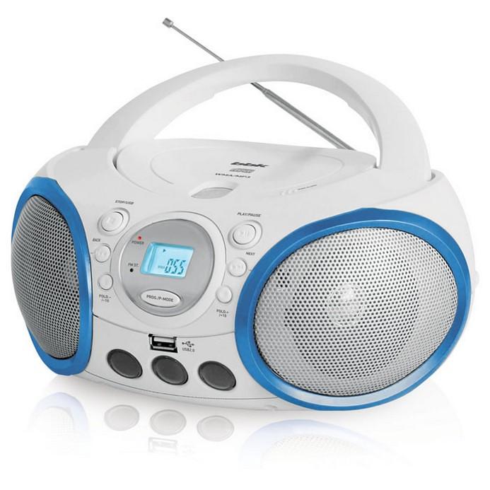 Аудиомагнитола BBK BX150U White/Blue
