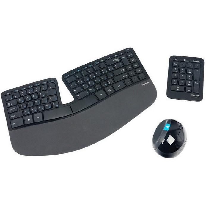 Комплект клавиатура+мышь Microsoft Sculpt Ergonomic (L5V-00017)