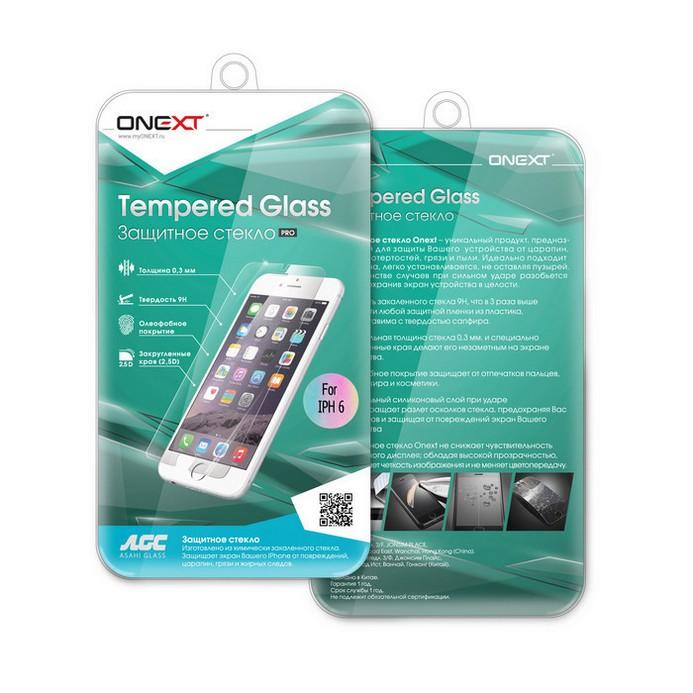Защитное стекло Onext для iPhone 6 SP 0.2 Gold (40785)