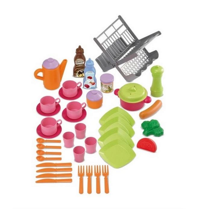 Игровой набор Ecoiffier Сушилка для посуды+посуда