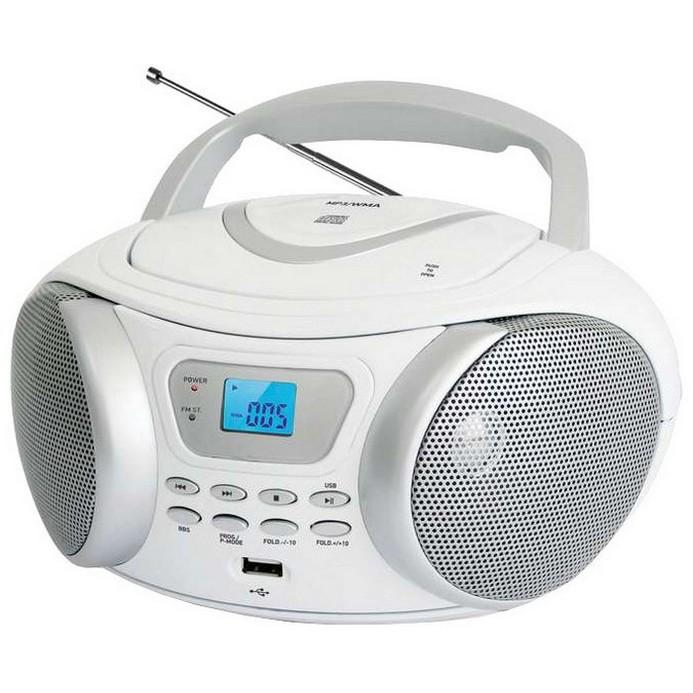 Аудиомагнитола BBK BX107U White