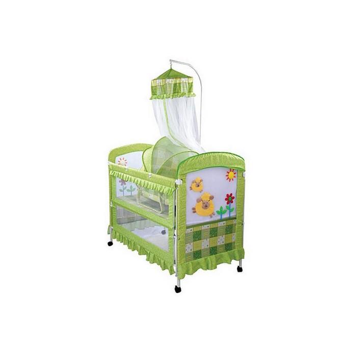 Кроватка Leader Kids BC-368 (358) зелен.
